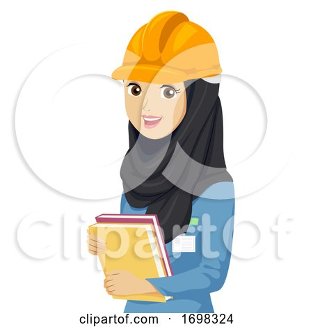 Teen Girl Engineering Qatar Student Illustration by BNP Design Studio