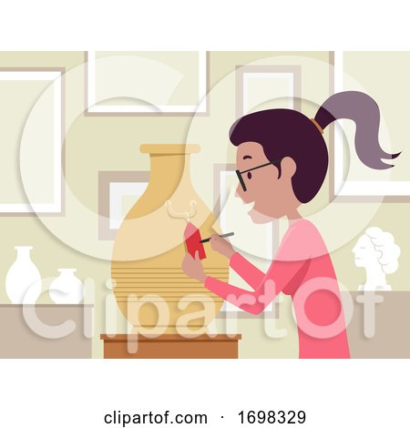 Girl Antique Appraiser Job Illustration by BNP Design Studio