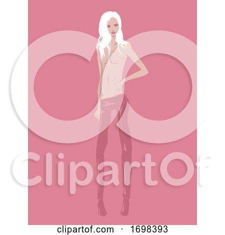 Man Androgyny Model Illustration by BNP Design Studio