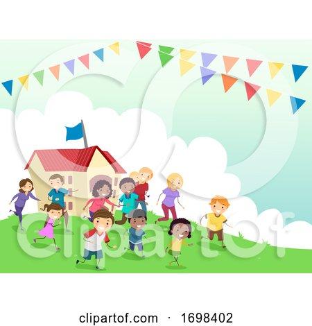 Stickman Family Day School Event Illustration by BNP Design Studio