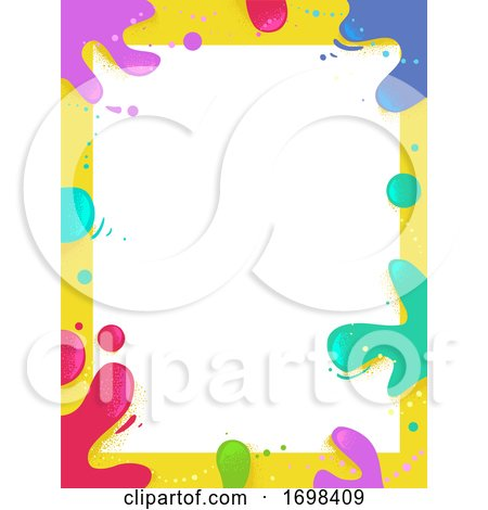Paint Splat Colors Frame Background Illustration Posters, Art Prints