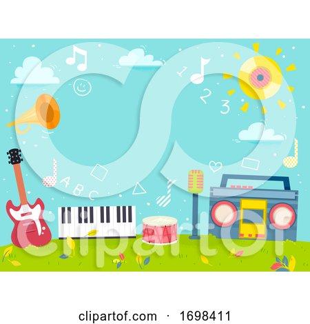 Music 123 Learning Background Illustration by BNP Design Studio