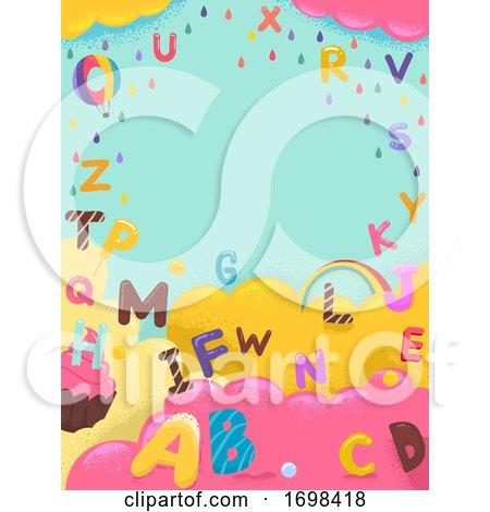 Alphabet Sweets Colors Background Illustration by BNP Design Studio