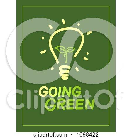 Going Green Light Bulb Illustration by BNP Design Studio