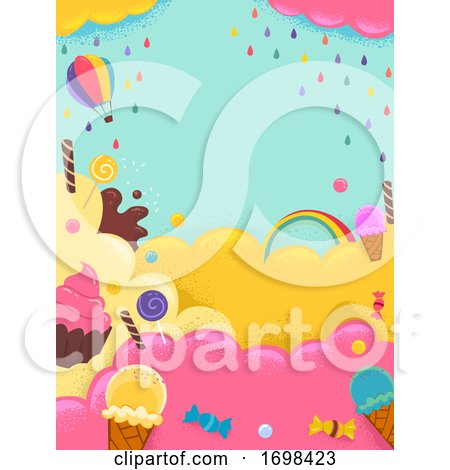 Sweets Ice Cream Candies Colors Background by BNP Design Studio