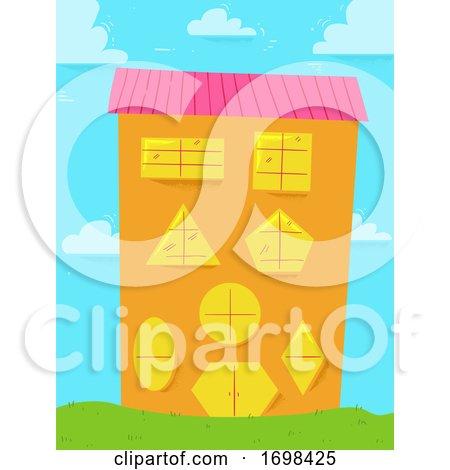 Building Basic Shapes Windows Door Illustration by BNP Design Studio