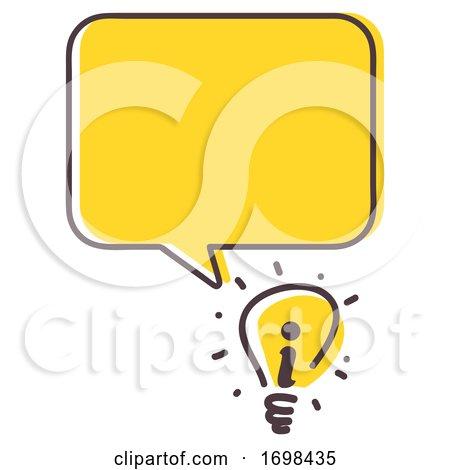 Light Bulb Idea Information Illustration by BNP Design Studio