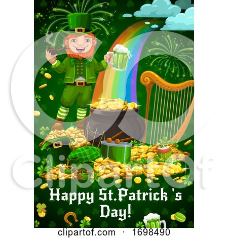 Saint Patricks Day. Leprechaun, Holiday Items by Vector Tradition SM