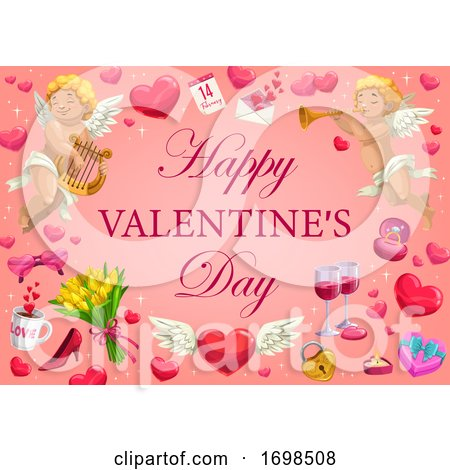 Valentines Day Holiday Romantic Gifts by Vector Tradition SM