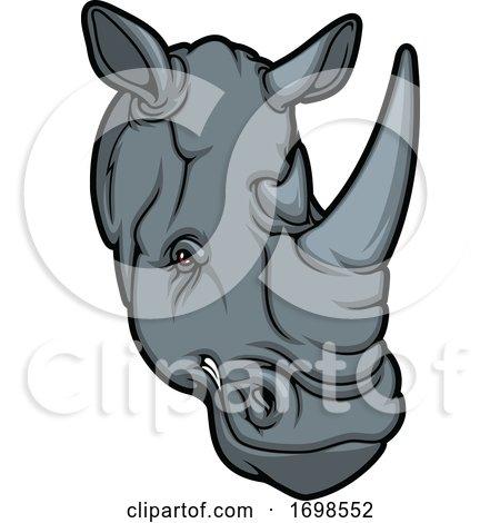 Tough Rhino Mascot by Vector Tradition SM