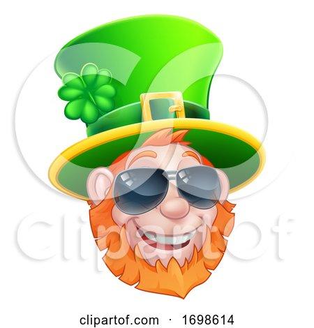 St Patricks Day Leprechaun Sunglasses Cartoon by AtStockIllustration