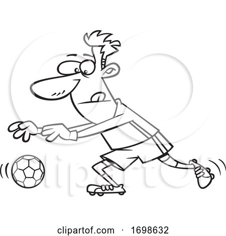 Black and White Soccer Goalkeeper by toonaday
