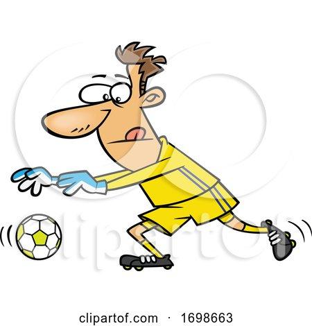 Cartoon Soccer Goalkeeper by toonaday