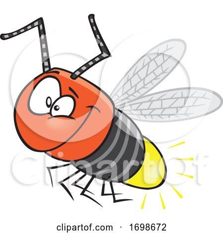 Cartoon Happy Firefly Bug Posters, Art Prints
