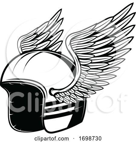 Winged Biker Helmet by Vector Tradition SM