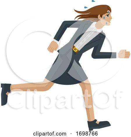 Business Woman Stress Tired Running Concept by AtStockIllustration