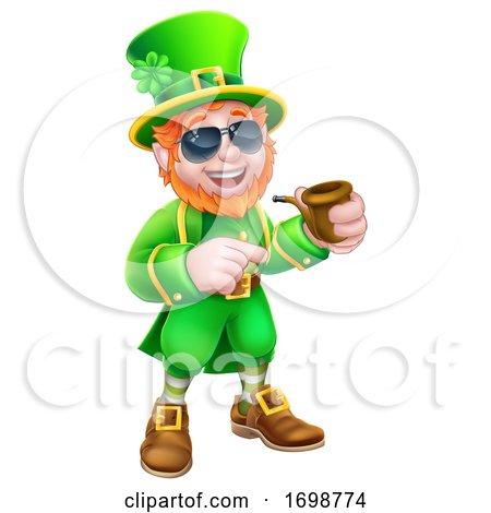 Leprechaun St Patricks Day Cartoon Mascot by AtStockIllustration
