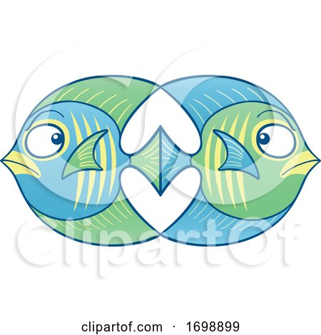 Cartoon Fish in Love and Conflict by Zooco