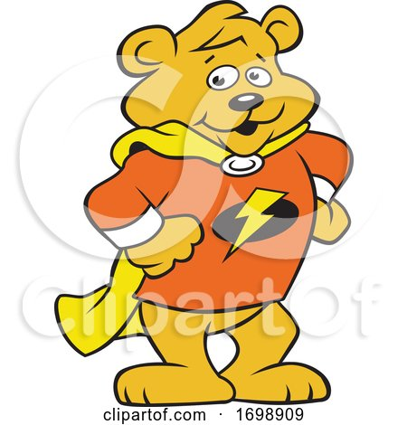 Cartoon Super Hero Bear Cub Mascot by Johnny Sajem