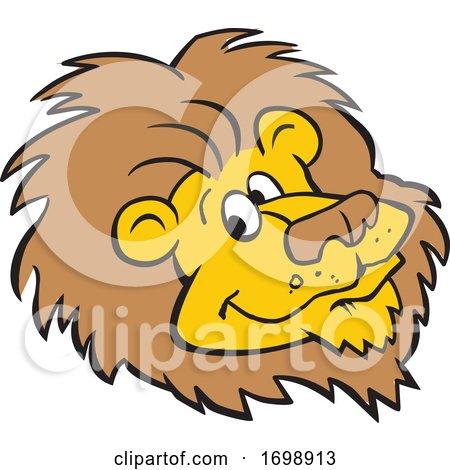 Cartoon Lion Mascot Face by Johnny Sajem