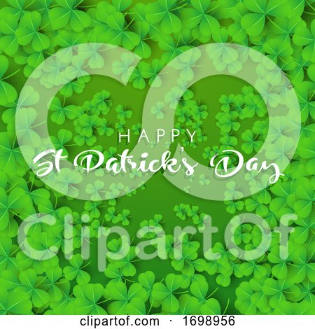 Happy St Patricks Day Background with Clover by KJ Pargeter
