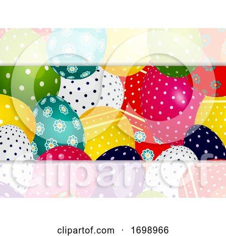 Close up Decorated Easter Eggs Panel by elaineitalia