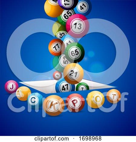 Jackpot Bingo Lottery Balls Falling in a Hole by elaineitalia