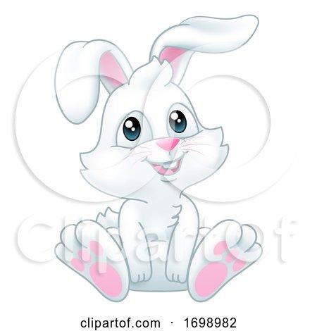 Easter Bunny Rabbit Cartoon by AtStockIllustration