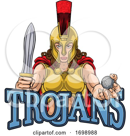 Spartan Trojan Gladiator Golf Warrior Woman by AtStockIllustration