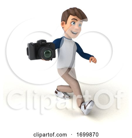 3d White Boy, on a White Background by Julos