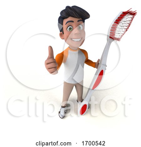 3d Indian Boy, on a White Background by Julos