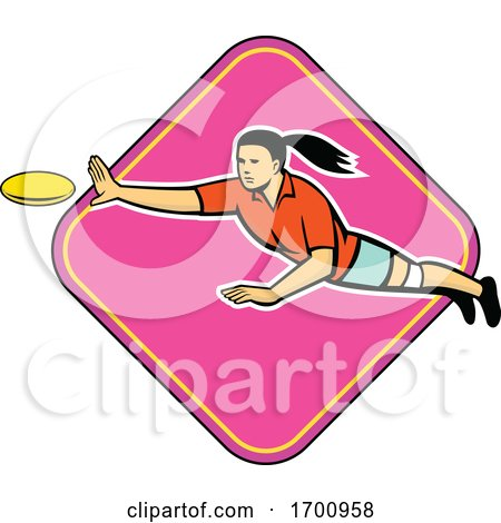 Ultimate Frisbee Player Catching by patrimonio