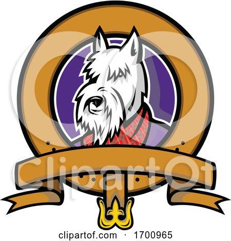 Scottish Terrier Belt Loop Mascot by patrimonio