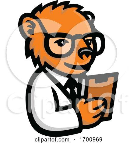 Nerdy Bear Scientist Mascot by patrimonio