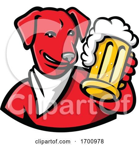English Lab Dog Beer Mug by patrimonio
