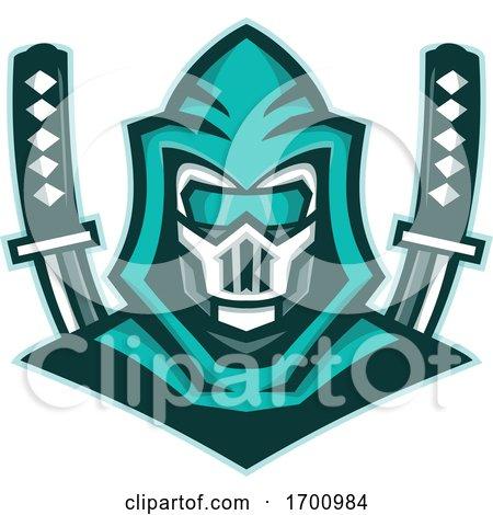Cyborg Ninja Samurai Sword Mascot Posters, Art Prints
