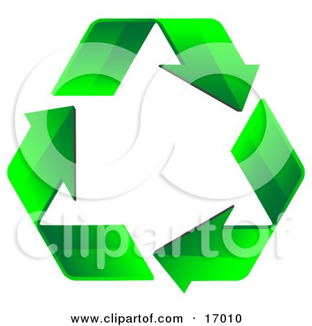 Three Green Arrows Forming The Shape Of A Triangle And Flowing In A Clockwise Motion, Symbolizing Renewable Energy And Recycling Posters, Art Prints