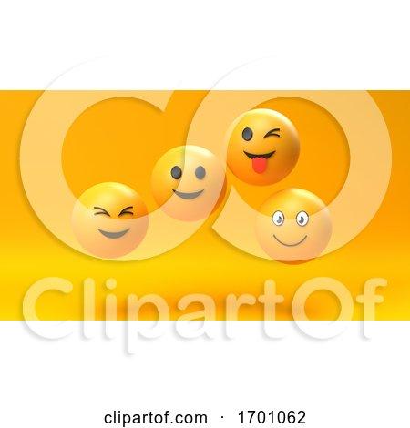Emoji Emoticon Character Background by KJ Pargeter