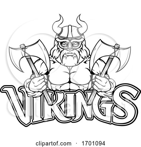 Viking Warrior Sports Mascot by AtStockIllustration