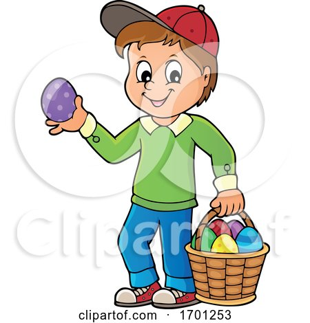 Boy Holding an Easter Egg by visekart