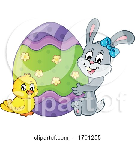 Easter Bunny Chick and Egg Posters, Art Prints