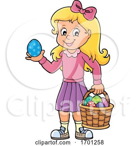 Girl Holding an Easter Egg by visekart