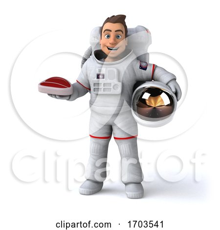 3d Cosmonaut, on a White Background Posters, Art Prints