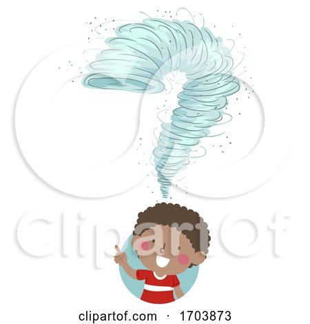Kid Boy Tornado Drill Question Mark Illustration by BNP Design Studio