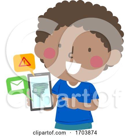 Kid Boy Tornado Phone Message Warning Device by BNP Design Studio