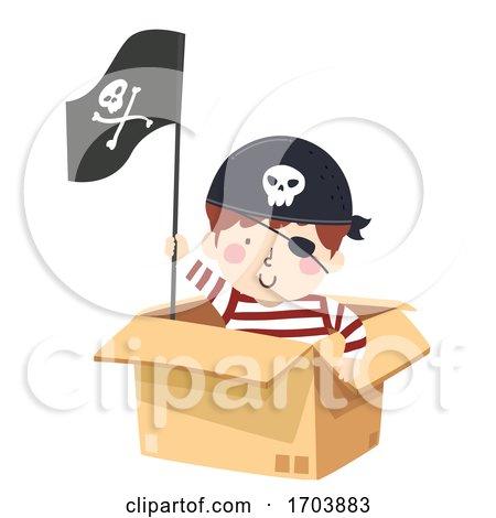 Kid Boy Pirate Box Illustration by BNP Design Studio