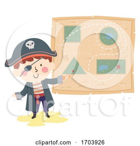 Kid Boy Pirate Shape Illustration by BNP Design Studio
