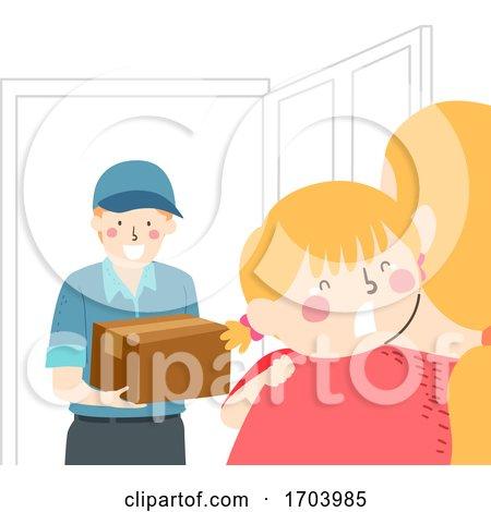 Kid Girl Mom Fear of Stranger Illustration by BNP Design Studio