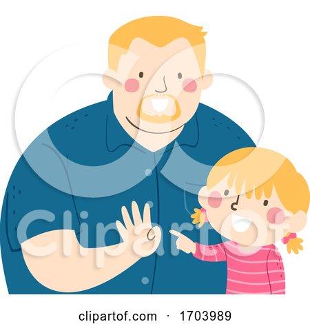 Kid Girl Dad Count Illustration by BNP Design Studio