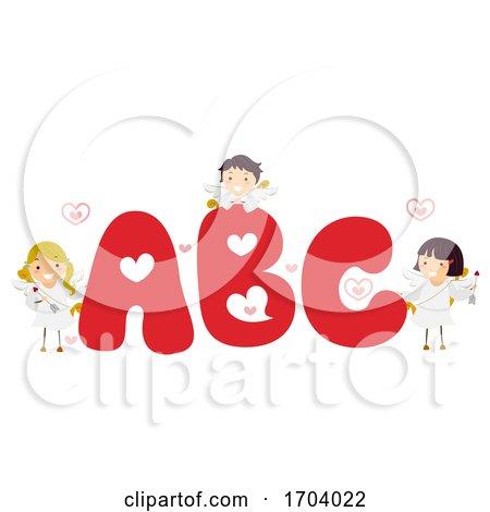 Stickman Kids Cupid Valentine Illustration by BNP Design Studio